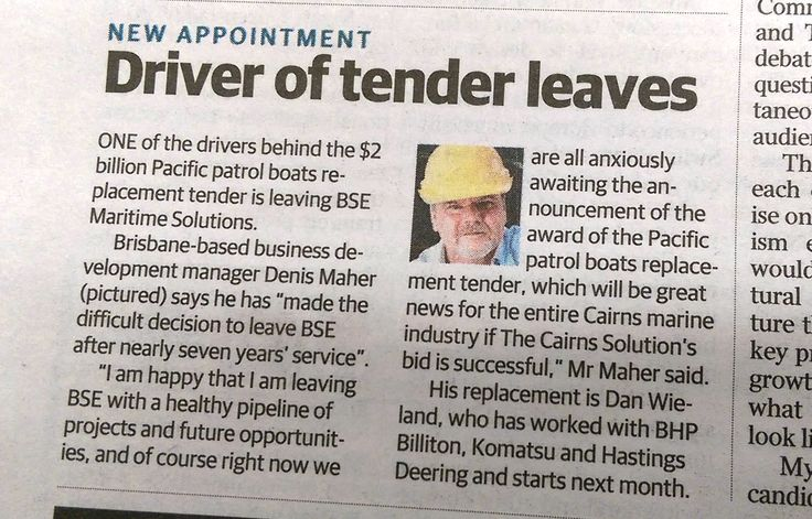 Seems I made the Cairns Post today! Must be a real slow news day. #DenisMaher