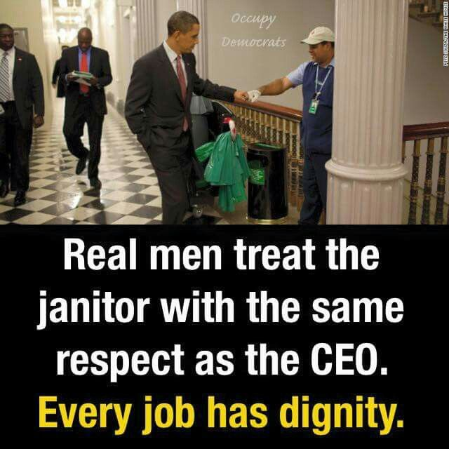 That's my President! A super humble guy!