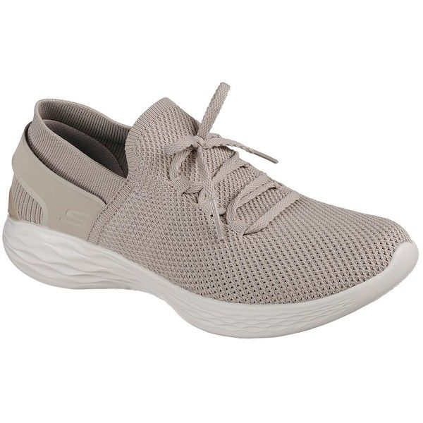 Skechers Women's You - Spirit Natural - Skechers (210 PEN) ❤ liked on Polyvore featuring shoes, natural, mesh shoes, slip-on shoes, mesh material shoes, skechers footwear and stitch shoes