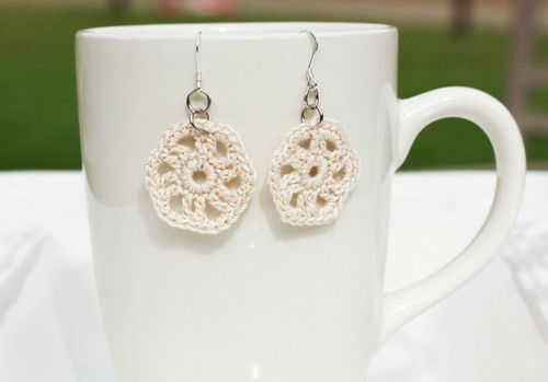 Crochet Earrings. All proceeds go to safe homes against human trafficking in the Dominican Republic.