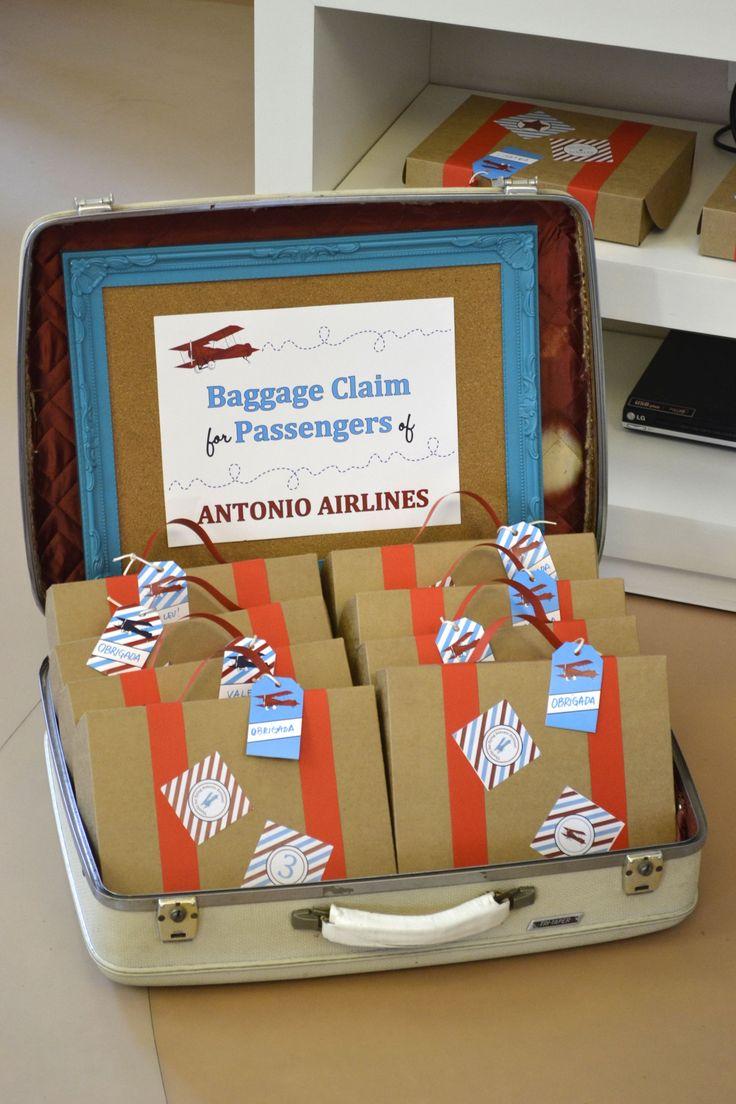 very cool give away for aiplane party Idéia muito fofa de lembrancinha para festas com tema avião por Babolina.com.br