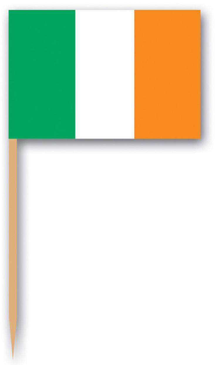 Pics drapeau de l'Irlande : Ce lot comprend 12 pics en bois avec des petits drapeaux irlandais (vert, blanc et orange). Chaque bâtonnet mesure environ 6,35 cm. Cet ensemble sera idéal pour décorer votre...