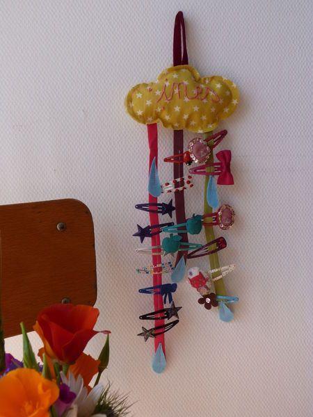 V.cute hair clips holder @ Les gribouillis d'Inès