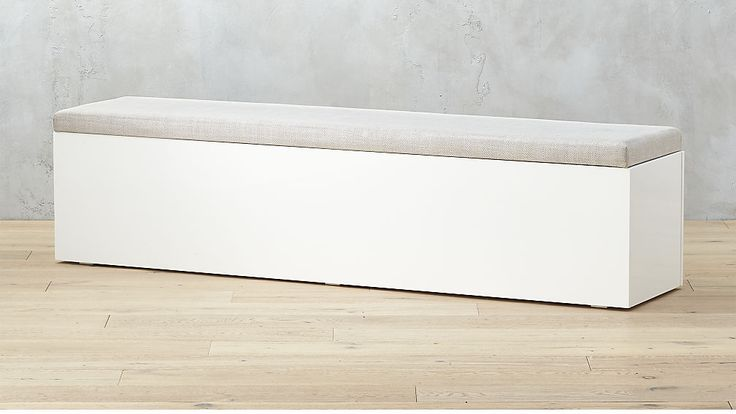 "dining bench 75"" long -  Catch-All Large White Storage Bench 