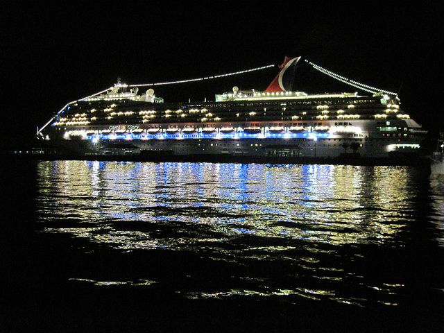 The Carnival Glory docked in Nassau.