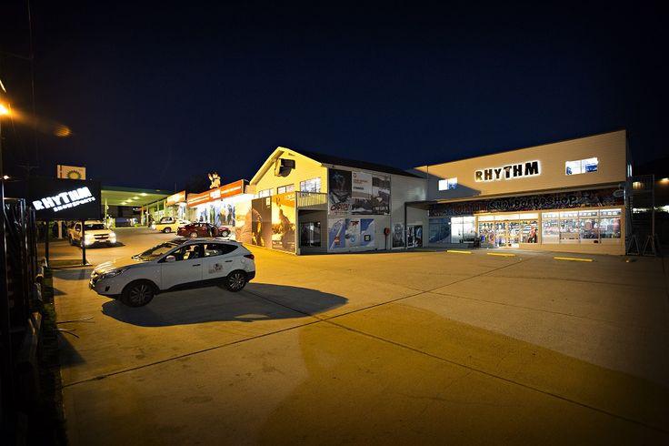 External shot of the Rhythm Store - Open 24hrs during the ski season