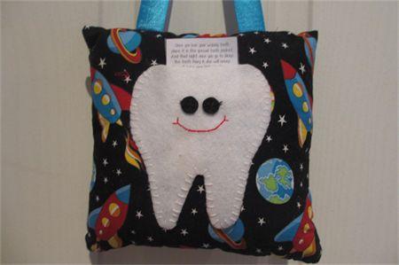Rocket Tooth fairy Pillow madeit.com.au/moobearcreations