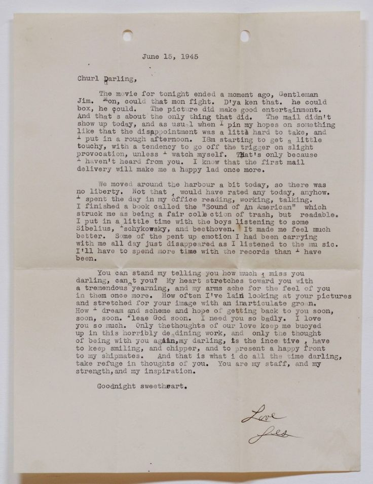N YHS Recently Acquired Some 600 Letters Between Brooklyn Newlyweds Lester And Shirley Halbreich Written While Was Serving In The Navy WWII