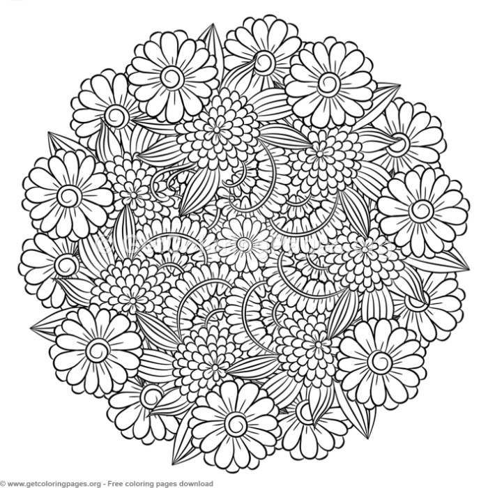 6 Zentangle Round Mandala Coloring Pages – GetColoringPages.org Free To  Download #coloring #col… Mandala Coloring Pages, Mandala Coloring, Flower  Coloring Pages