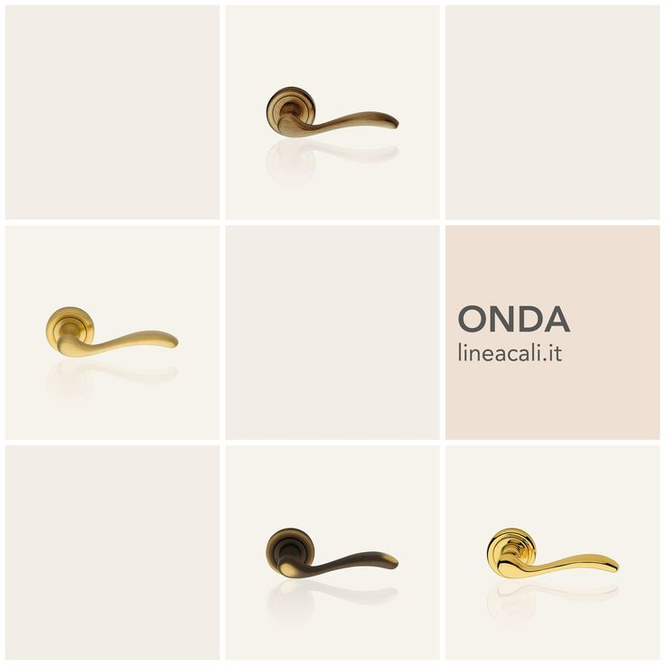 Onda | Inspired by the waves and beauty of Lake Garda, it is distinguished by the particular recess of the handgrip that gives it an extremely firm and comfortable grasp - - - Ispirata alle onde e bellezze del Lago di Garda, è contraddistinta dal particolare incavo dell'impugnatura che le dona una presa estremamente sicura e comoda. #handles #doorhandle #doorhandles #lineacali #maniglie #round #classic #brass #klamki #ручки #manillas #klinken