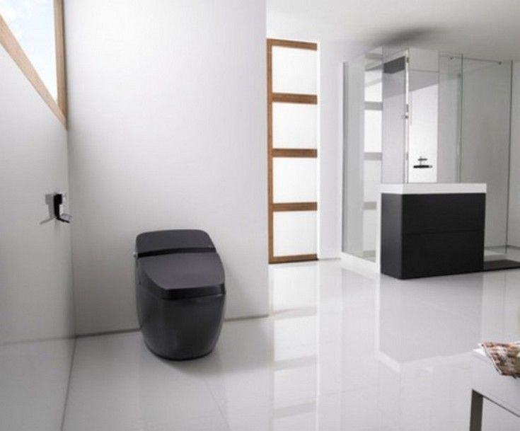 Appliances: Black Hi Tech Toilet - http://homeypic.com/black-hi-tech-toilet-2/
