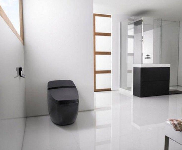 Appliances: Black Hi Tech Toilet - http://homeypic.com/black-hi-tech-toilet-2/