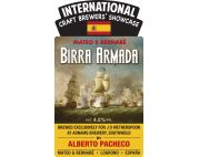#40 Adnams / Mateo & Bernabé Birra Armada 4.8% [The Salt Cot, Saltcoats, 20th January] ... Part of the international craft brewers' showcase from J D Wetherspoon. Brewed by Alberto Pacheco at Adnams brewery in Southwold.