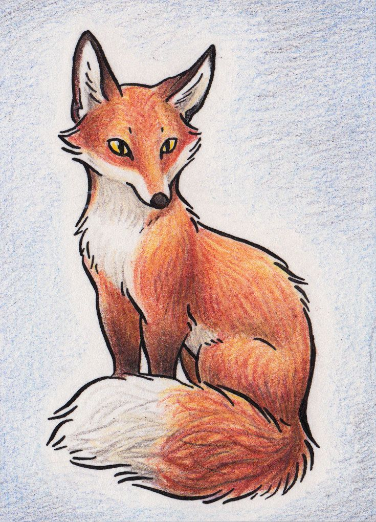Original ACEO Red Fox от AvaniiPlush на Etsy