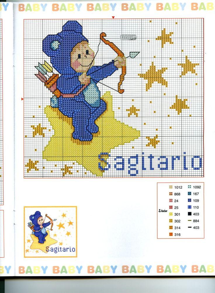 Schema punto croce Baby Oroscopo 10