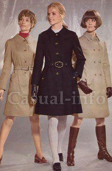 Простые линии и А-образные силуэты все еще очень характерны для одежды нового десятилетия 70-х.