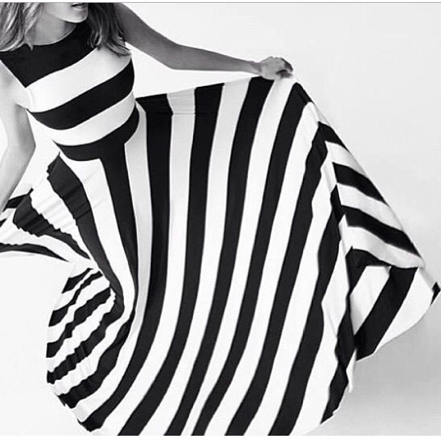 Black and white... Love love love this dress