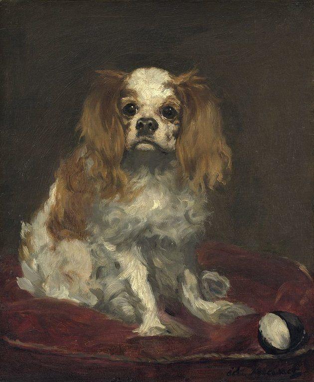 """Édouard Manet, """"A King Charles Spaniel,"""" circa 1866"""