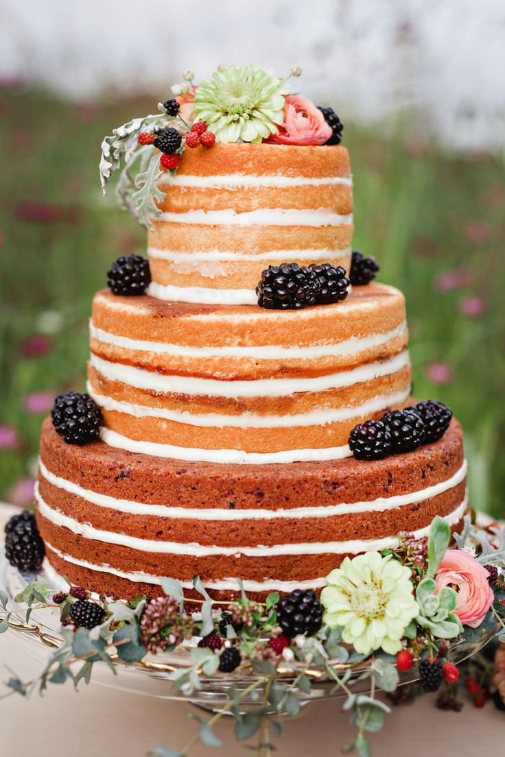 397 Best Naked Rustic Wedding Cakes Images On Pinterest -9619
