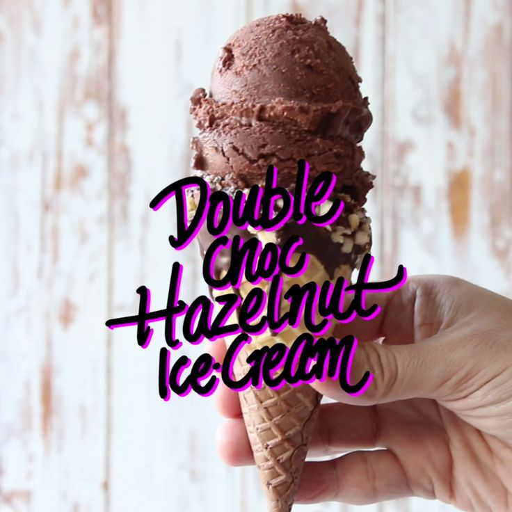 Rich, easy, creamy Nutella ice-cream.