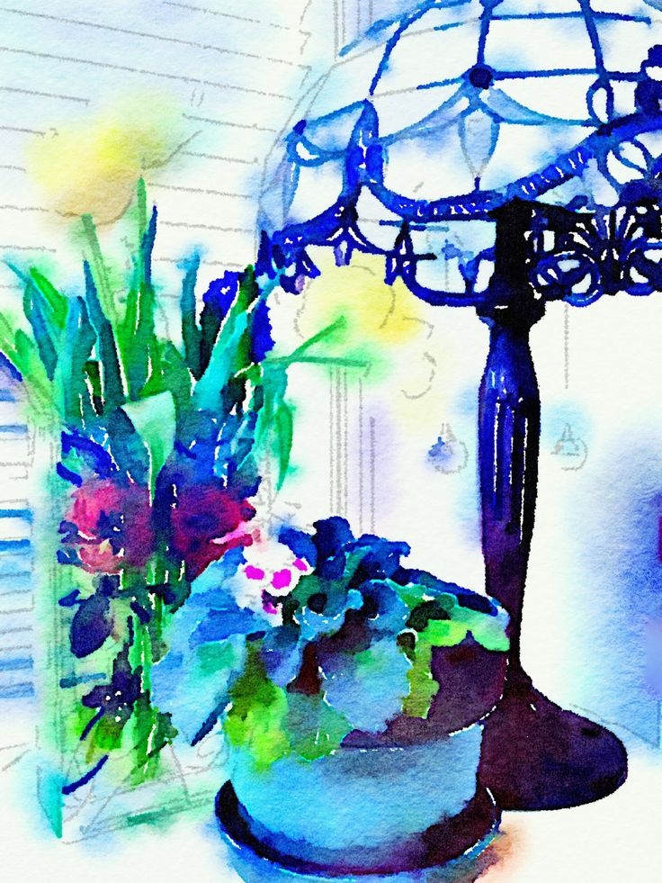 FLOWERS AND LAMP by CRussellPhotography on Etsy