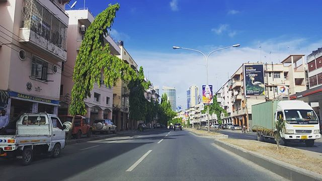 Driving through Dar as Salaam. Almost at the hotel