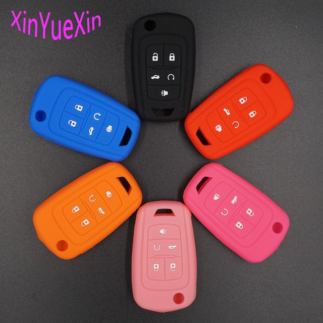 Xinyuexin Silicone Car Key Cover Fob Case For Chevrolet Equinox