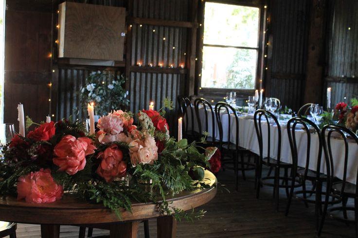 Sweetheart table, Racine Apple packing Shed, Orange, NSW