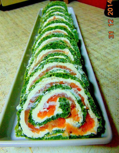 ♨ Pelusiowa Kuchnia ♨: Rolada szpinakowa z łososiem