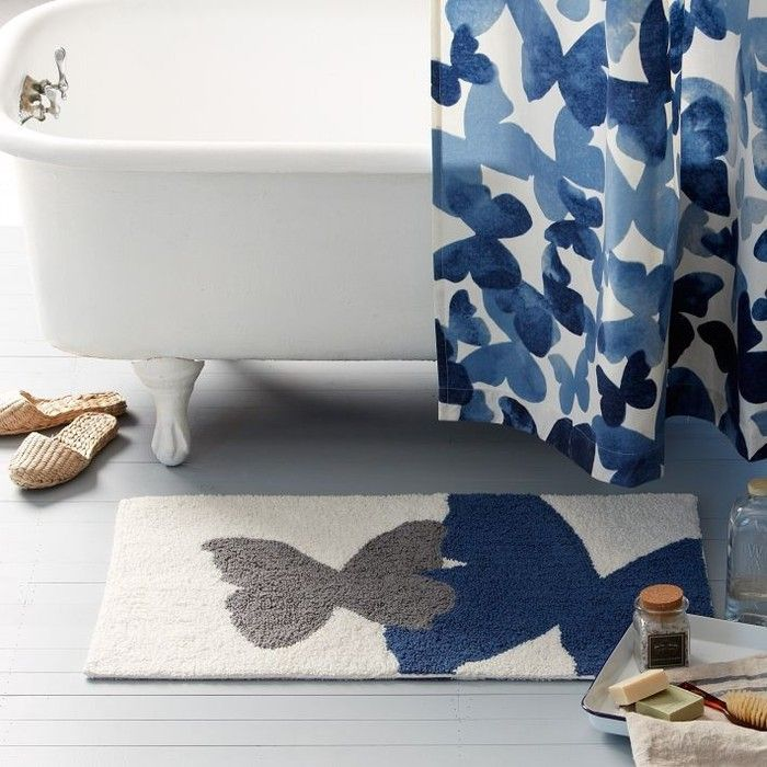 BrightNest | Let's Get Weird with Bath Mats ~this would be PERFECT in my blue butterfly bathroom <3