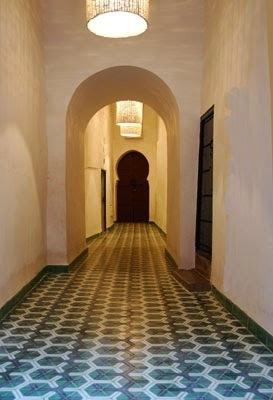 Hallway Moroccan cement tiles