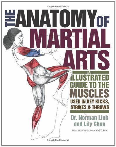 The Anatomy of Martial Arts: An Illustrated Guide to the Muscles Used for Each Strike, Kick, and Throw by Norman Link http://www.amazon.com/dp/1569757879/ref=cm_sw_r_pi_dp_70pJvb1X64FST
