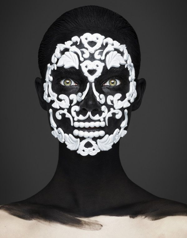 Andrew Gallimore! Inspired by their previous work with death masks during Rankin's Alive In The Face of Death exhibition, #Dayofthedead  #mexico