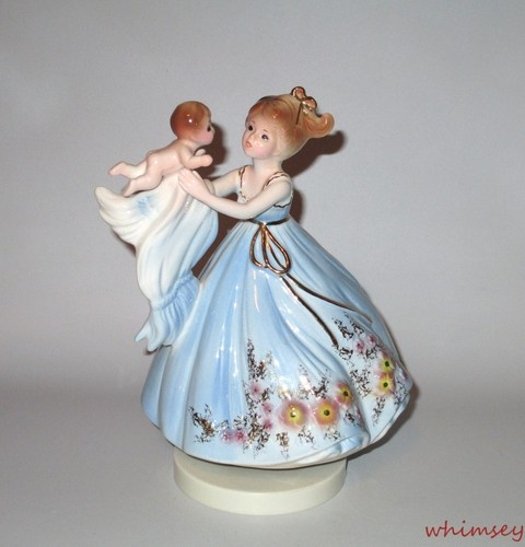 Josef Originals Motherhood Music Box Mother Amp Baby Child Musical Figurine Music Boxes And