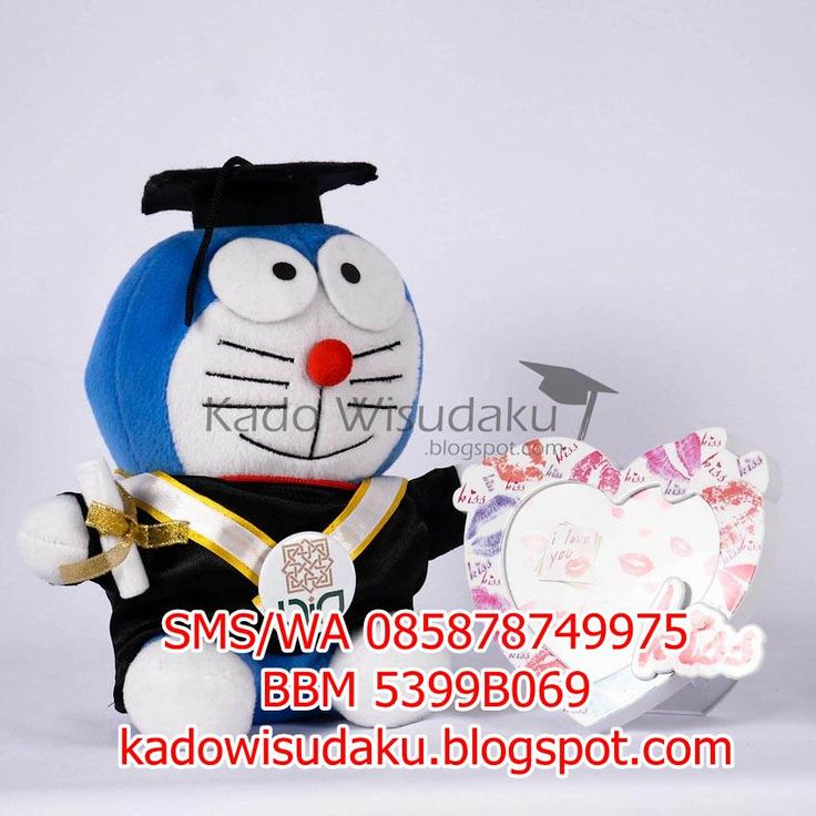 Jual Kado Boneka Wisuda Doraemon Biru 24 cm - Toko Online Kado Wisuda Jogja