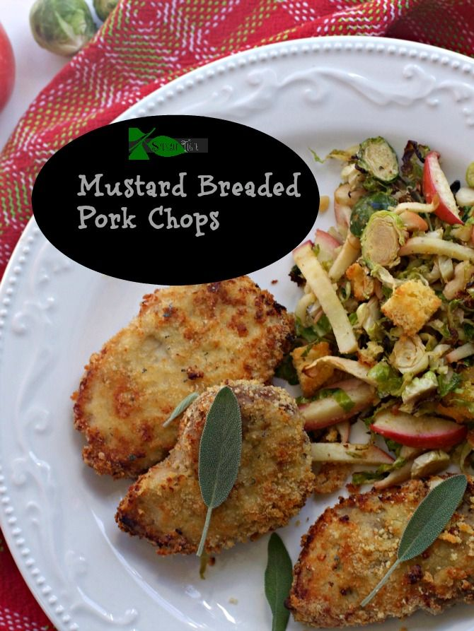 Mustard Breaded Oven Fried Pork Chops. Out of all my porkchop recipes  this is the one everyone asks for. #ad  #porkbeinspired #porksgiving @porkbeinspired