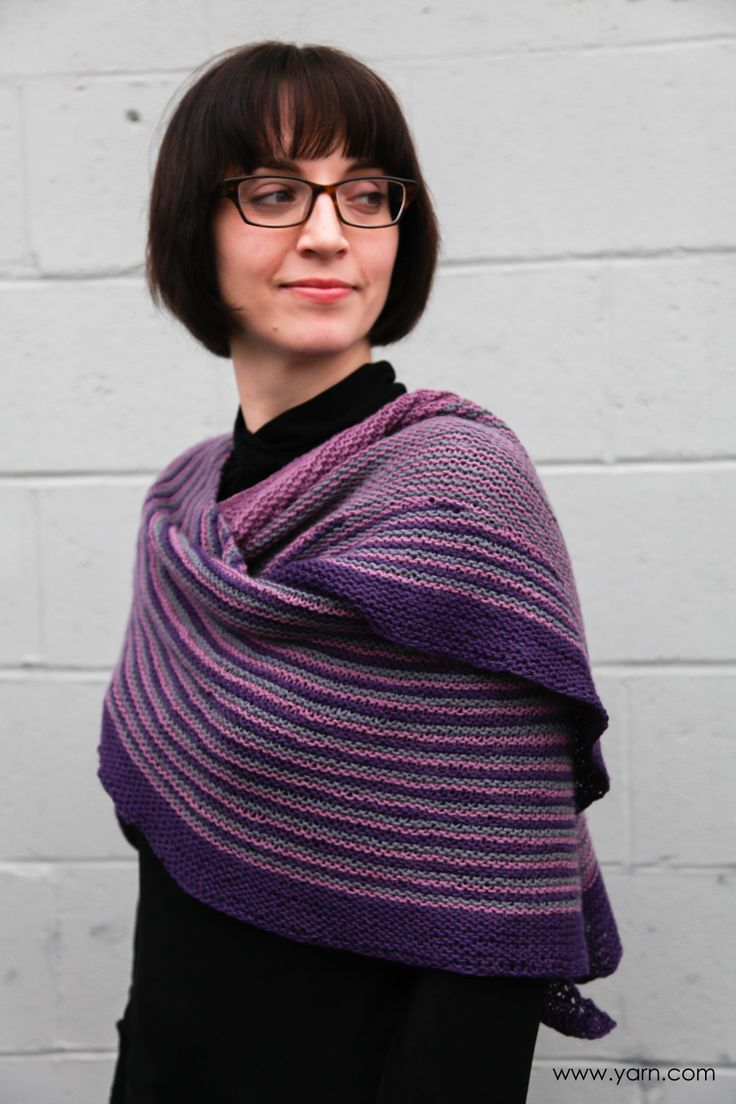 Tips on knitting Color Affection Shawl - Webs yarn blog