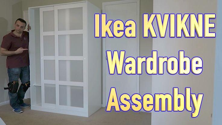 IKEA KVIKNE Wardrobe with 2 sliding doors assembly