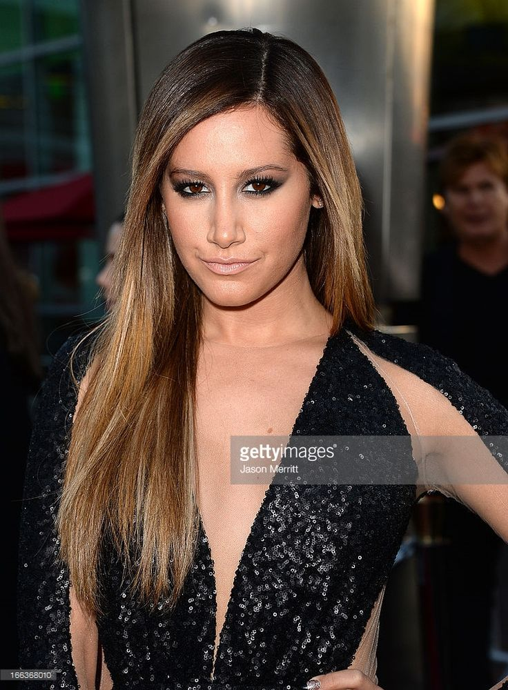 Actress Ashley Tisdale arrives at the Dimension Films' 'Scary Movie 5' premiere at the ArcLight Cinemas Cinerama Dome on April 11, 2013 in Hollywood, California.