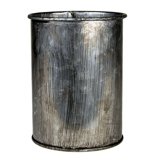 Zinc Metal Cylinder Vases with Industrial Look Finished, H-4 Pots, Planters - Pack of 72 pcs  - The rustic feel of the zinc metal vases is perfect for