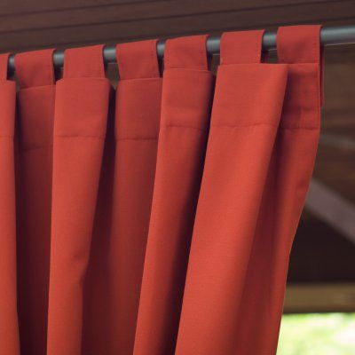Coral Coast Sunbrella Outdoor Curtain Panel Canvas Heather Beige - 8693U-E5476, EASA001-96