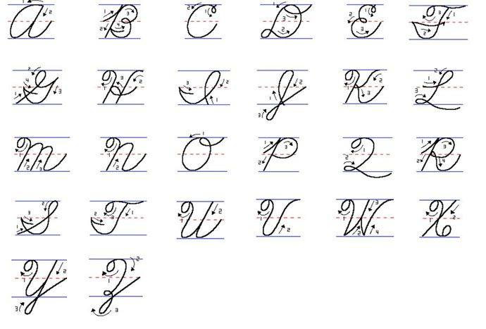 英文草寫大寫   Cool words, English handwriting, Words