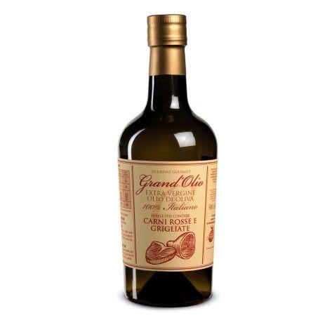 "Olio Extra Vergine ""Grand'Olio""Carni Rosse e Grigliate 500 ml www.bodegasmezquita.com"
