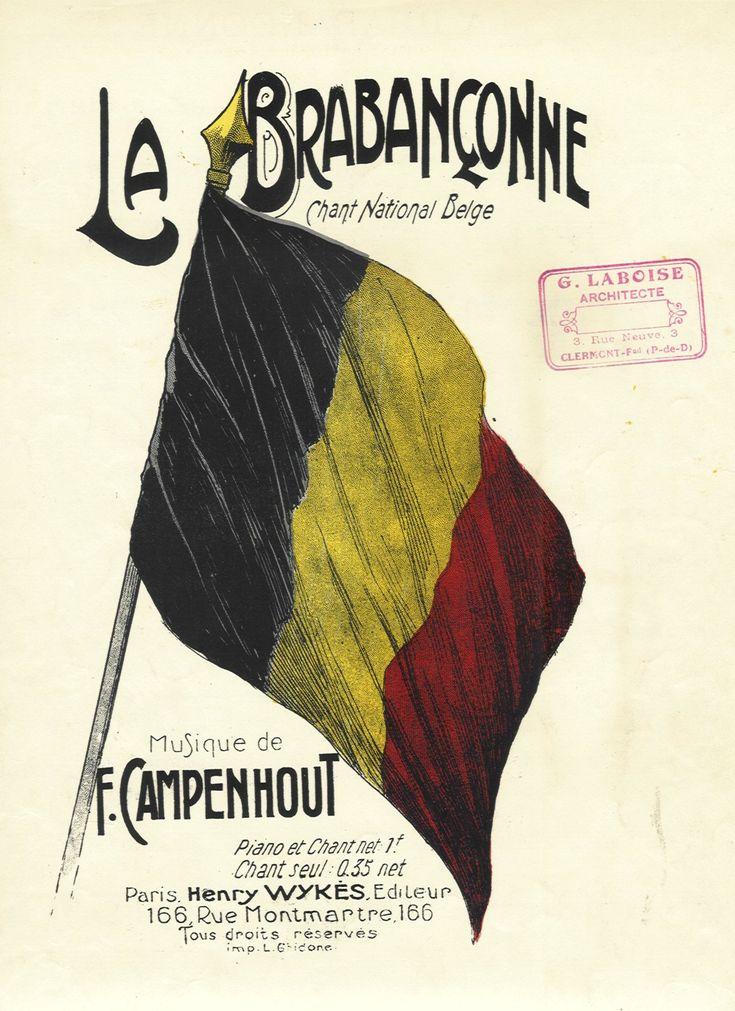 Partituur van de Brabançonne van ongeveer 1910. De Brabançonne is het nationaal volkslied van België. Het lied was oorspronkelijk in het Frans geschreven en meer dan 100 jaar later werd er ook een versie in het Nederlands en ten slotte ook nog in het Duits gemaakt. De Brabançonne is geschreven door Jenneval, wiens echte naam Louis Alexandre Dechet was. Hij was toneelspeler in de Brusselse Muntschouwburg waar in augustus 1830 de Belgische Omwenteling begon.