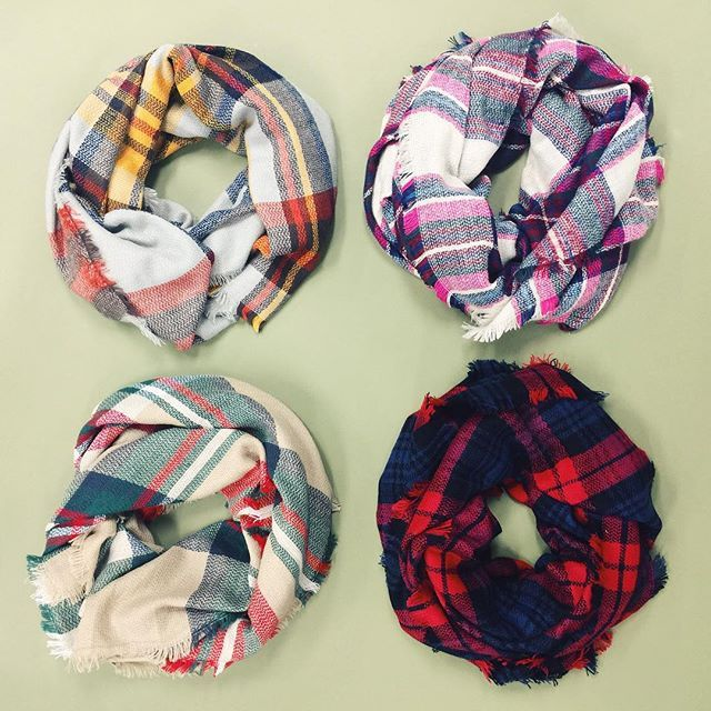 yes please, Plaid Scarves