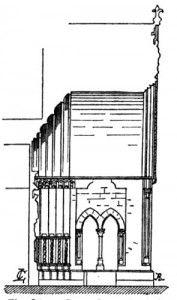 Coupe du porche de la cathédrale de Laon-France