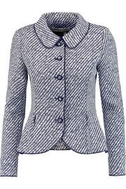 Oscar de la Renta Two-tone woven jacket