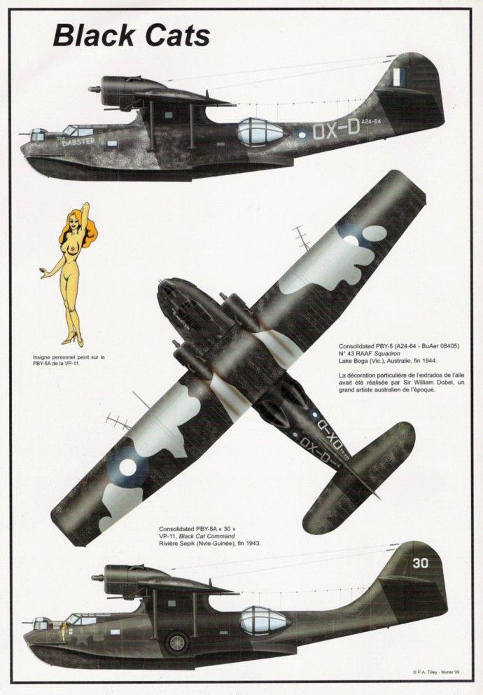 Aéro Journal N°7 - Juin-juillet 1999 - 4e de couv Black Cats PBY-5