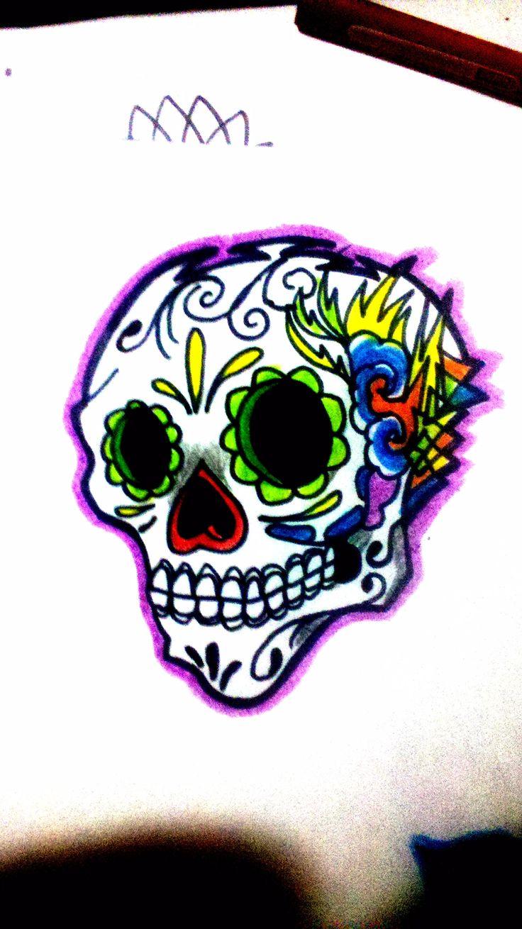 skull design DMT