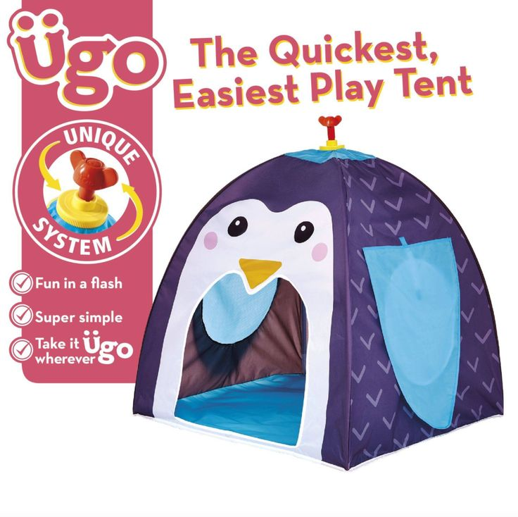 Ugo Play Tent Penguin Pop Up A And Twist Open World Of Imagination